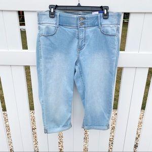 🌼NWT Apt. 9 Light Wash Stretch Denim Jeans Capris